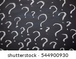 question marks written on... | Shutterstock . vector #544900930