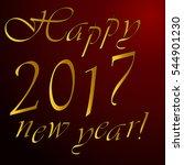 happy new year  2017   Shutterstock .eps vector #544901230