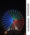 ferris wheel in the night  | Shutterstock . vector #544905658