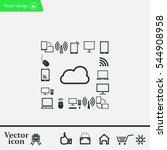 cloud computing concept vector...   Shutterstock .eps vector #544908958
