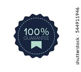 100  guarantee label vector | Shutterstock .eps vector #544911946