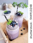 blueberry smoothie | Shutterstock . vector #544913248