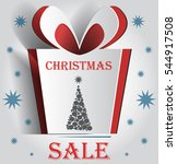 christmas box cut the paper .... | Shutterstock .eps vector #544917508