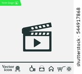 movie clap   black vector icon | Shutterstock .eps vector #544917868