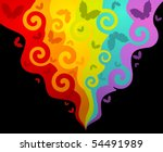 abstract background with... | Shutterstock . vector #54491989