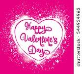 valentine's day splash vector... | Shutterstock .eps vector #544924963