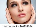 perfect face makeup. closeup... | Shutterstock . vector #544939204
