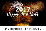 happy new year 2017 on colorful ... | Shutterstock . vector #544940950