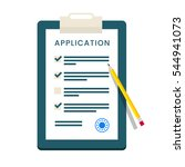 application form. documents...   Shutterstock . vector #544941073