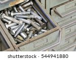 Many Iron Bolts In A Drawer In...