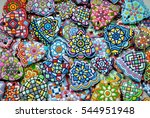 colorful christmas sugar... | Shutterstock . vector #544951948