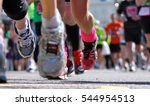 marathon runners close up legs... | Shutterstock . vector #544954513