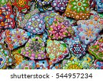 christmas design   multicolored ... | Shutterstock . vector #544957234