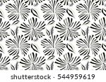 hibiscus flowers seamless... | Shutterstock . vector #544959619