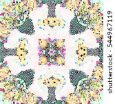 mosaic colorful pattern for... | Shutterstock . vector #544967119