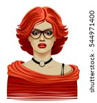 woman in red | Shutterstock .eps vector #544971400