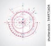 technical blueprint  digital... | Shutterstock . vector #544971604