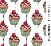vector seamless pattern with... | Shutterstock .eps vector #544975414