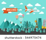travel vacation flat concept.... | Shutterstock .eps vector #544975474