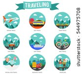 set of travel and tourism... | Shutterstock .eps vector #544975708