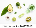 natural herbal skin care... | Shutterstock . vector #544977010