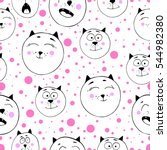 cute seamless pattern with... | Shutterstock .eps vector #544982380