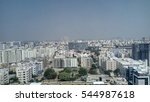 a hyderabad city view skyline... | Shutterstock . vector #544987618
