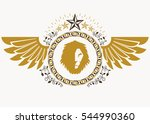 heraldic sign made using... | Shutterstock . vector #544990360