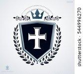 heraldic coat of arms made with ... | Shutterstock . vector #544996270