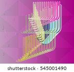 alphabet of model and notice ... | Shutterstock .eps vector #545001490