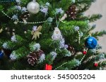 the little gnome with a white... | Shutterstock . vector #545005204