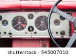 vintage automobile dashboard...   Shutterstock . vector #545007010