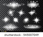 set white glowing light burst... | Shutterstock .eps vector #545007049