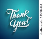 thank you beautiful lettering... | Shutterstock . vector #545009464