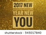 2017 new year new you words on... | Shutterstock . vector #545017840