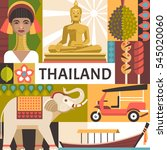 thailand travel poster concept. ... | Shutterstock .eps vector #545020060