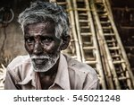 Portrait Of Indian Elder Man...