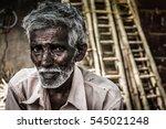 Portrait Of Indian Elder Man...