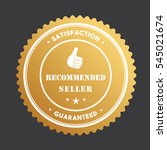 stamp badge tag recommended... | Shutterstock .eps vector #545021674