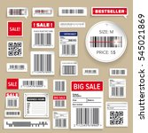 barcode packaging business... | Shutterstock .eps vector #545021869