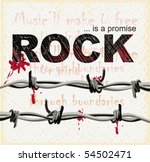 vector of rock graphic with... | Shutterstock .eps vector #54502471