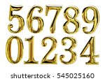 elegant gold numbers set... | Shutterstock . vector #545025160