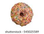 cake donuts on white | Shutterstock . vector #545025589
