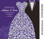 wedding invitation or card with ...   Shutterstock .eps vector #545028286