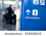station signage pointing to an... | Shutterstock . vector #545028310
