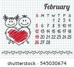 2017 year hand drawn calendar ... | Shutterstock .eps vector #545030674