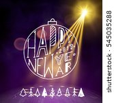 show background. happy new year ... | Shutterstock .eps vector #545035288