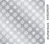 seamless silver snowflakes... | Shutterstock .eps vector #545039059
