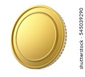 blank gold coin isolated on...   Shutterstock . vector #545039290