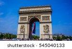 arc de triomphe | Shutterstock . vector #545040133